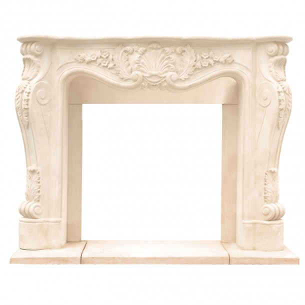Chateau Series Louis XIII Cast Stone Fireplace Mantel CL14002