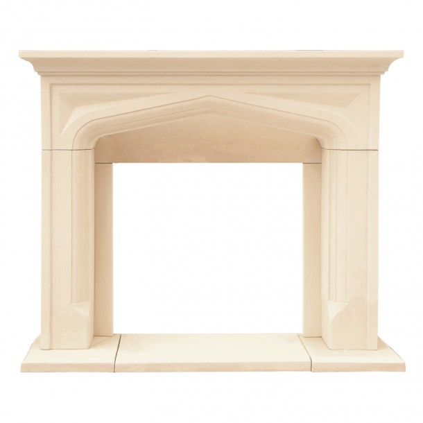 Chateau Series Pisa Cast Stone Fireplace Mantel CP14003