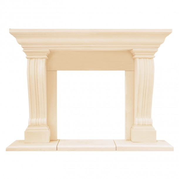 Chateau Series Jordana Cast Stone Fireplace Mantel CJ14001