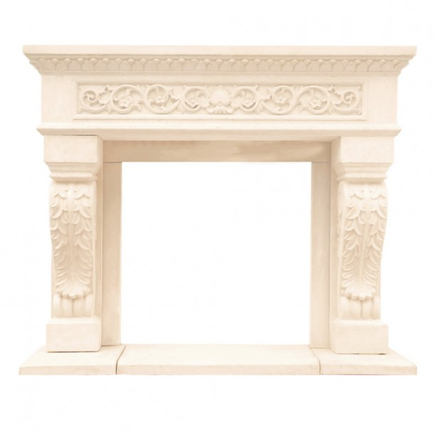 Chateau Series King Henry Cast Stone Fireplace Mantel CH14000