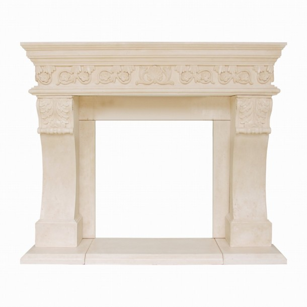 President Series Churchill Cast Stone Fireplace Mantel PC16001