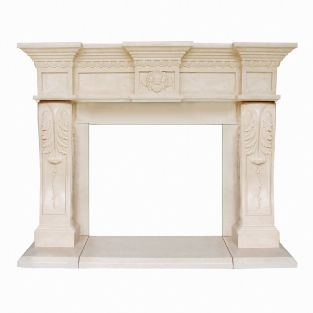 President Series Oxford Cast Stone Fireplace Mantel PO16002