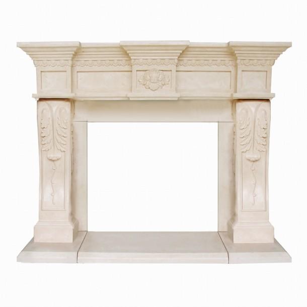 President Series Oxford Cast Stone Fireplace Mantel PO16002